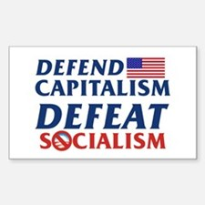 Defend Capitalism Rectangle Decal