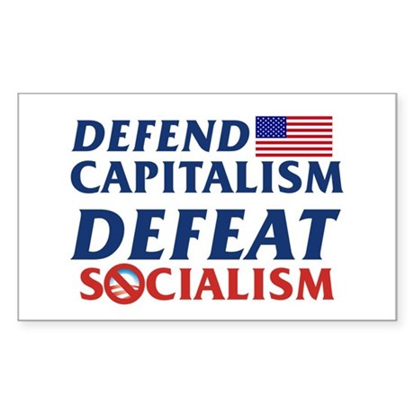 Defend Capitalism Rectangle Sticker