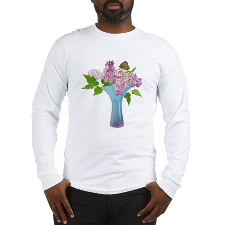 Lilac Butterfly Long Sleeve T-Shirt