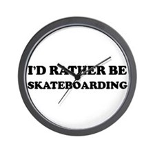 Rather be Skateboarding Wall Clock