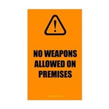 No Weapons Allowed Bumper Stickers