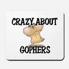 Crazy About Gophers Mousepad