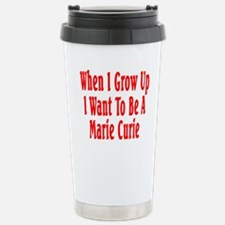 Marie Curie (red) Stainless Steel Travel Mug