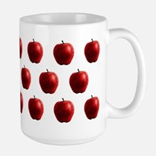 Red Apples Pattern Large Mug