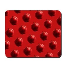 Red Apples Pattern Mousepad