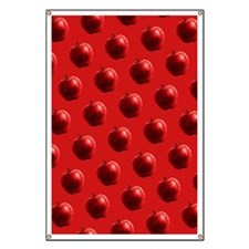 Red Apples Pattern Banner