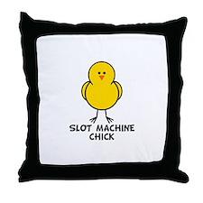 Slot Machine Chick Throw Pillow