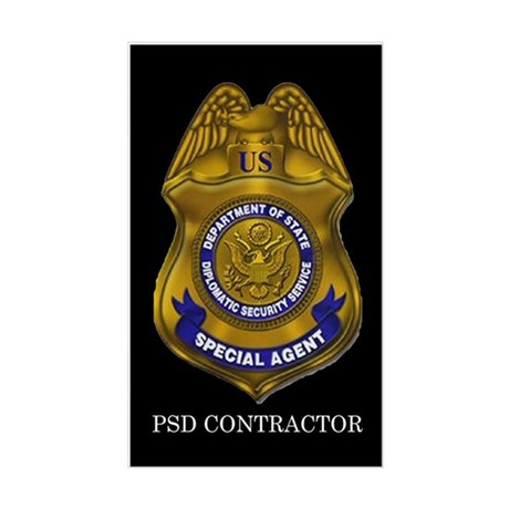 DSS Special Agent Contractor Rectangle Sticker