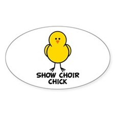 Show Choir Chick Oval Decal
