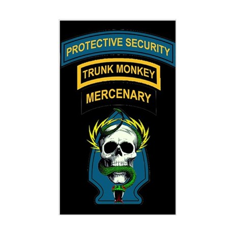Private Security Contractor Rectangle Sticker