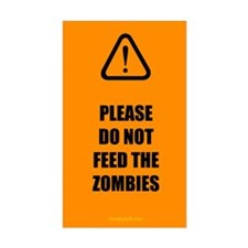 Do Not Feed Zombies Decal