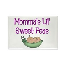 Momma's Lil' Sweet Peas Rectangle Magnet