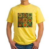 Art yellow Mens Yellow T-shirts