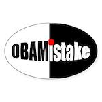 Obamistake Oval Sticker (10 pk)