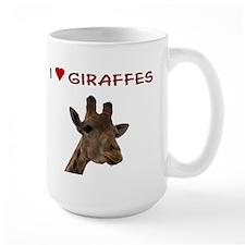 I Heart Giraffes Mug