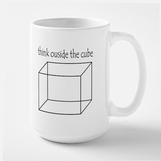 Think outside the cube Large Mug