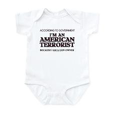 American Terrorist Infant Bodysuit