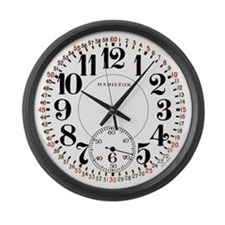 Hamilton Railroad Pocket Watch Large Wall Clock