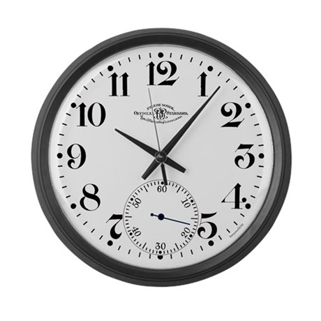 Ball Railroad Pocket Watch Large Wall Clock