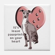Italian Greyhound Mothers Day Tile Coaster