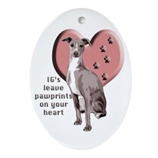 Italian Greyhound Mothers Day Oval Ornament