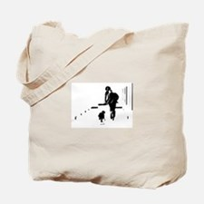 Barack Obama + Bo Running Tote Bag