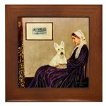 Whistlers / Scottie (w) Framed Tile