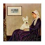 Whistlers / Scottie (w) Tile Coaster