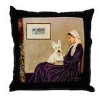 Whistlers / Scottie (w) Throw Pillow