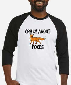 Crazy About Foxes Baseball Jersey