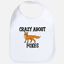 Crazy About Foxes Bib