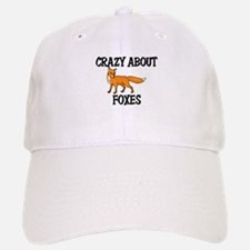 Crazy About Foxes Baseball Baseball Cap