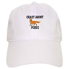 Crazy About Foxes Baseball Cap