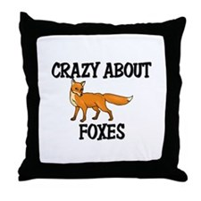 Crazy About Foxes Throw Pillow