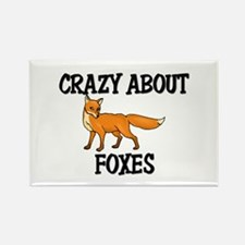 Crazy About Foxes Rectangle Magnet