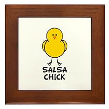 Salsa Chick Framed Tile
