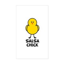 Salsa Chick Rectangle Decal