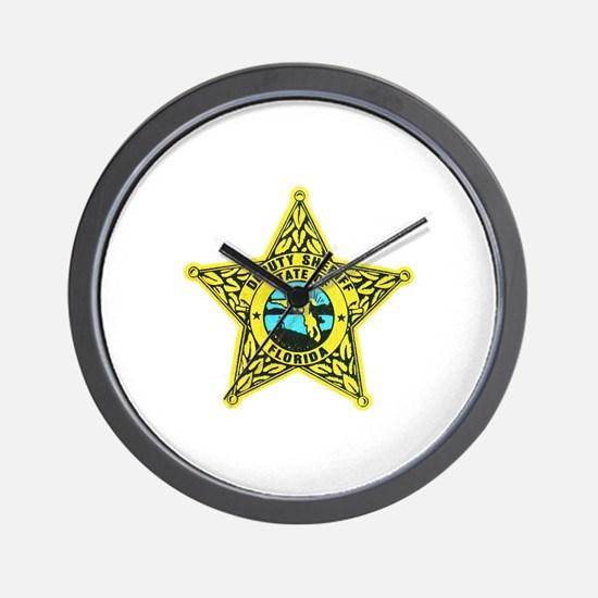 Florida Sheriff Wall Clock