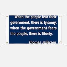 Tyranny / Liberty Banner