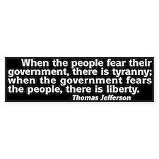 Tyranny / Liberty Bumper Car Sticker