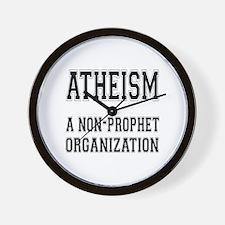 Atheism - A Non-Prophet Organization Wall Clock