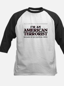 American Terrorist Political Kids Baseball Jersey
