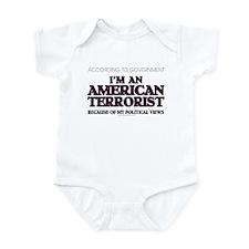 American Terrorist Political Infant Bodysuit