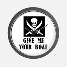 Give Me Your Boat Wall Clock