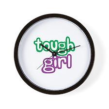 Tough Girl Wall Clock