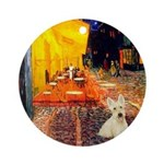 Cafe / Scottie (w) Ornament (Round)