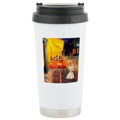 Cafe / Scottie (w) Stainless Steel Travel Mug