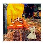 Cafe / Scottie (w) Tile Coaster