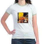 Cafe / Scottie (w) Jr. Ringer T-Shirt