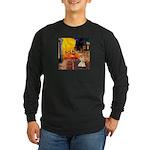 Cafe / Scottie (w) Long Sleeve Dark T-Shirt